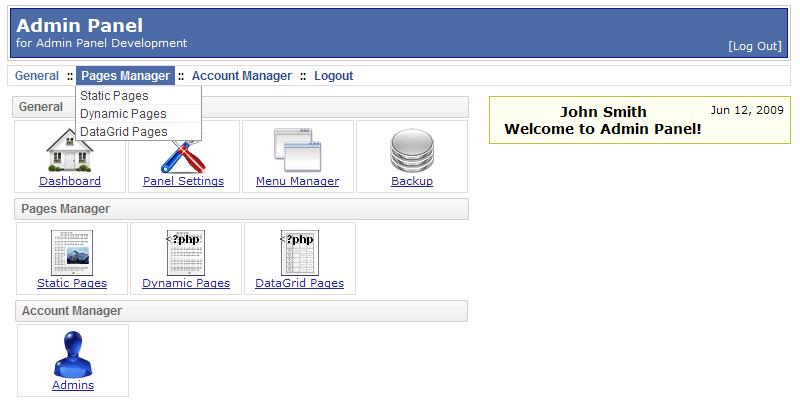 PHP AdminPanel Website Back End Script