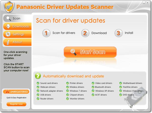 Panasonic Driver Updates Scanner