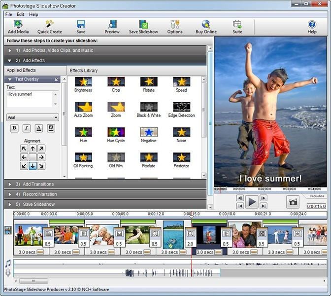 PhotoStage Video Slideshow Software