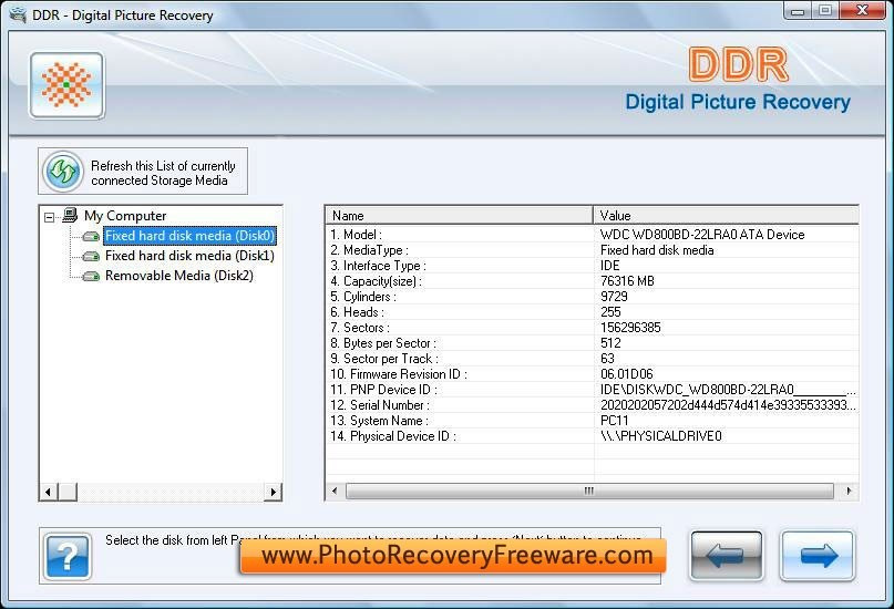 Photo Recovery Freeware