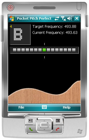PitchPerfect Guitar Tuner for Pocket PC