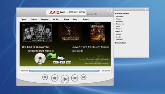 Plato DVD to AVI VCD SVCD Converter