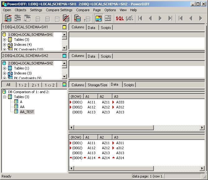 PowerDIFF for Oracle