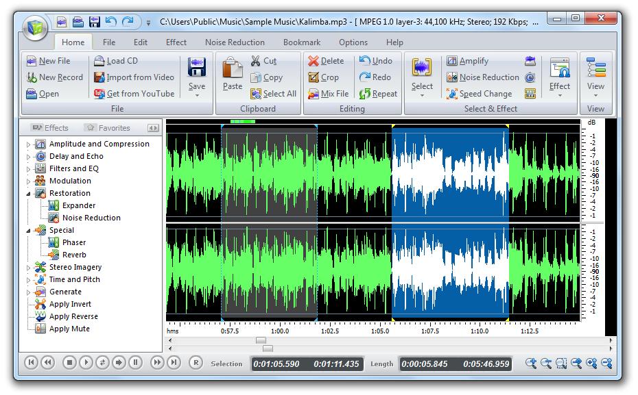 Power Sound Editor Free 2010