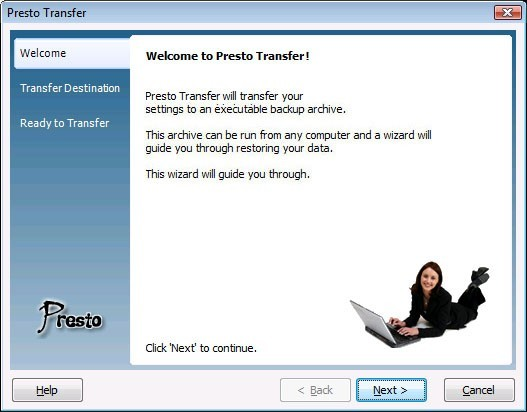 Presto Transfer Windows Media Player