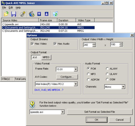 Quick AVI MPEG Joiner