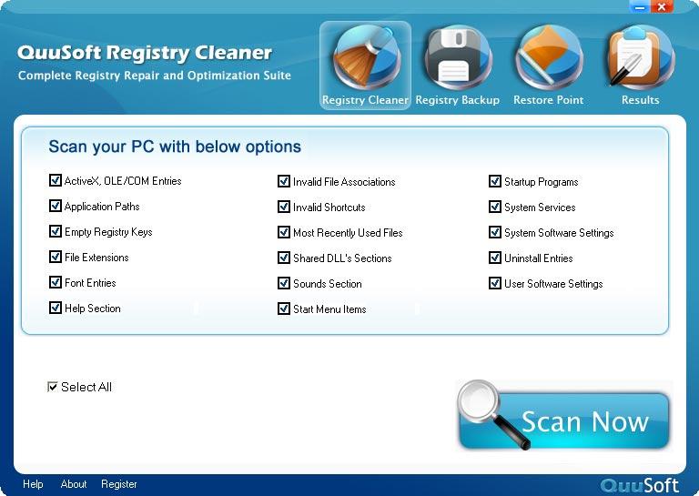 QuuSoft Registry Cleaner