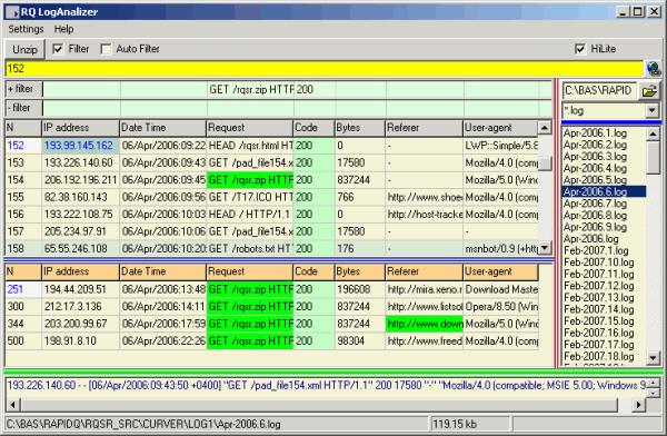 RQ Apache LogViewer