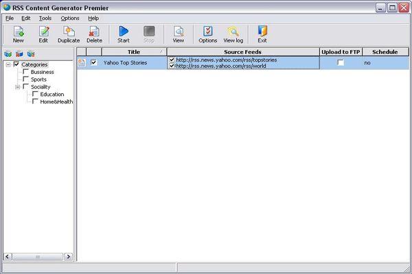 RSS Content Generator Professional