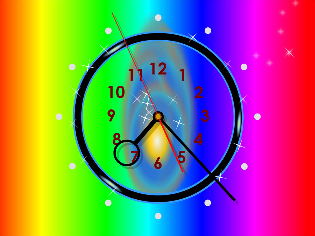 Rainbow Clock Live Wallpaper