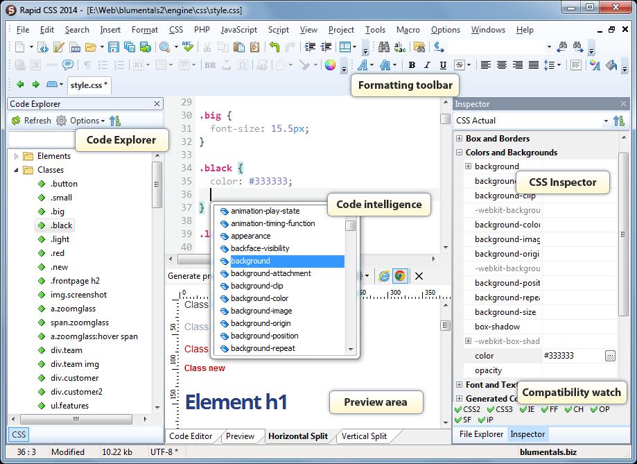 Rapid CSS Editor 2014