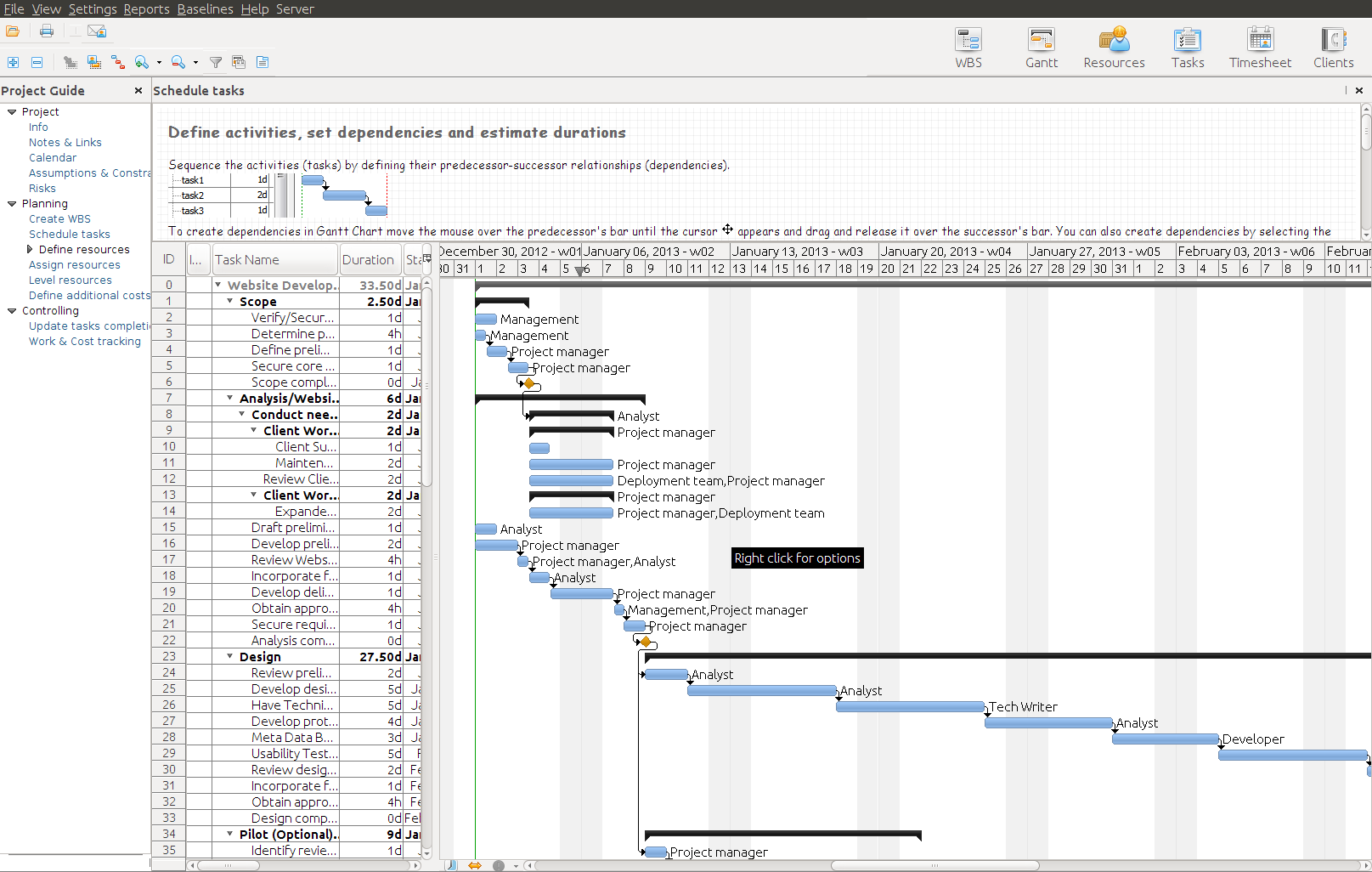 RationalPlan Project Viewer for Linux
