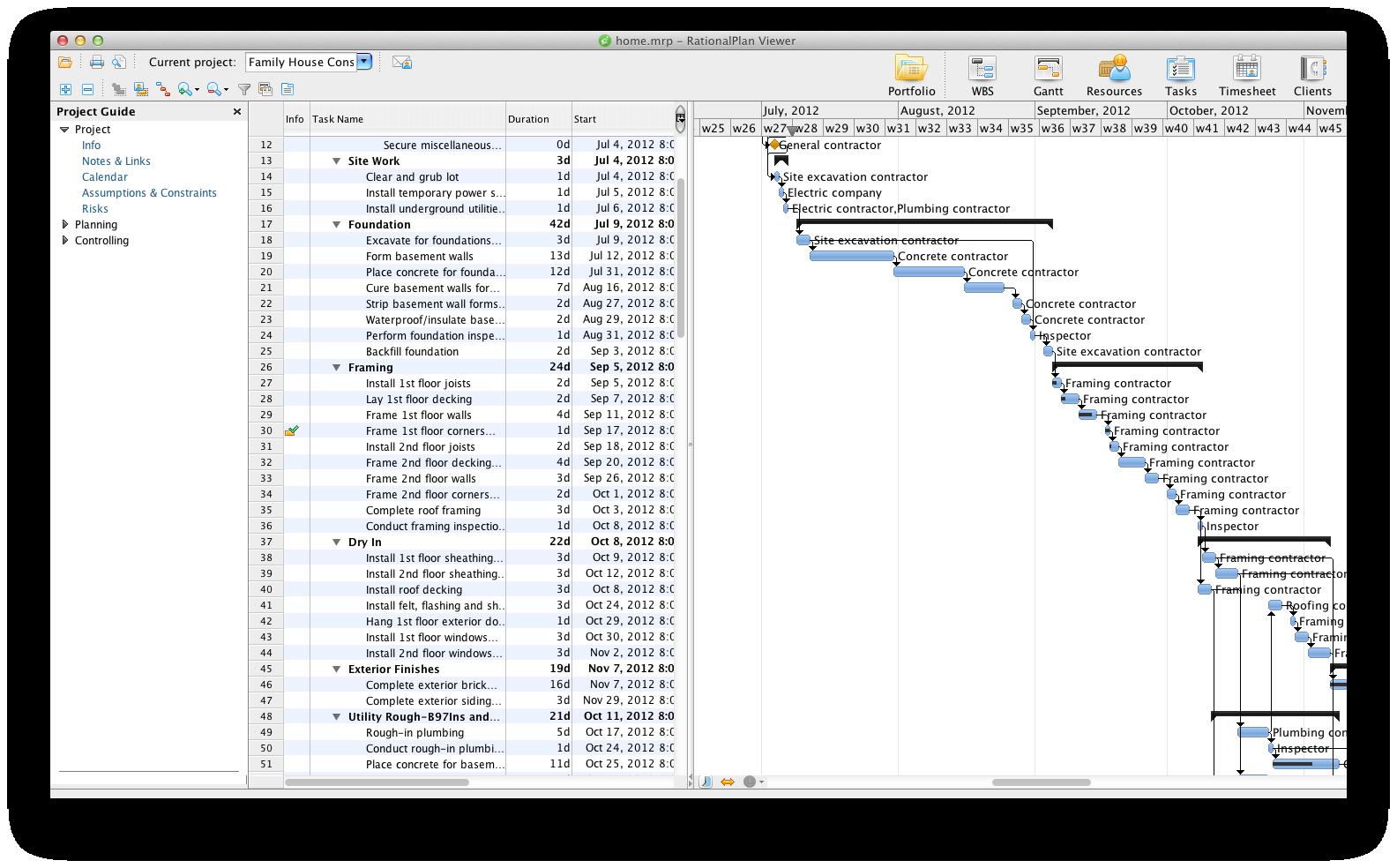 RationalPlan Project Viewer for Mac