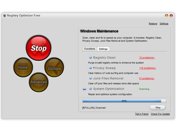 Registry Optimizer Free