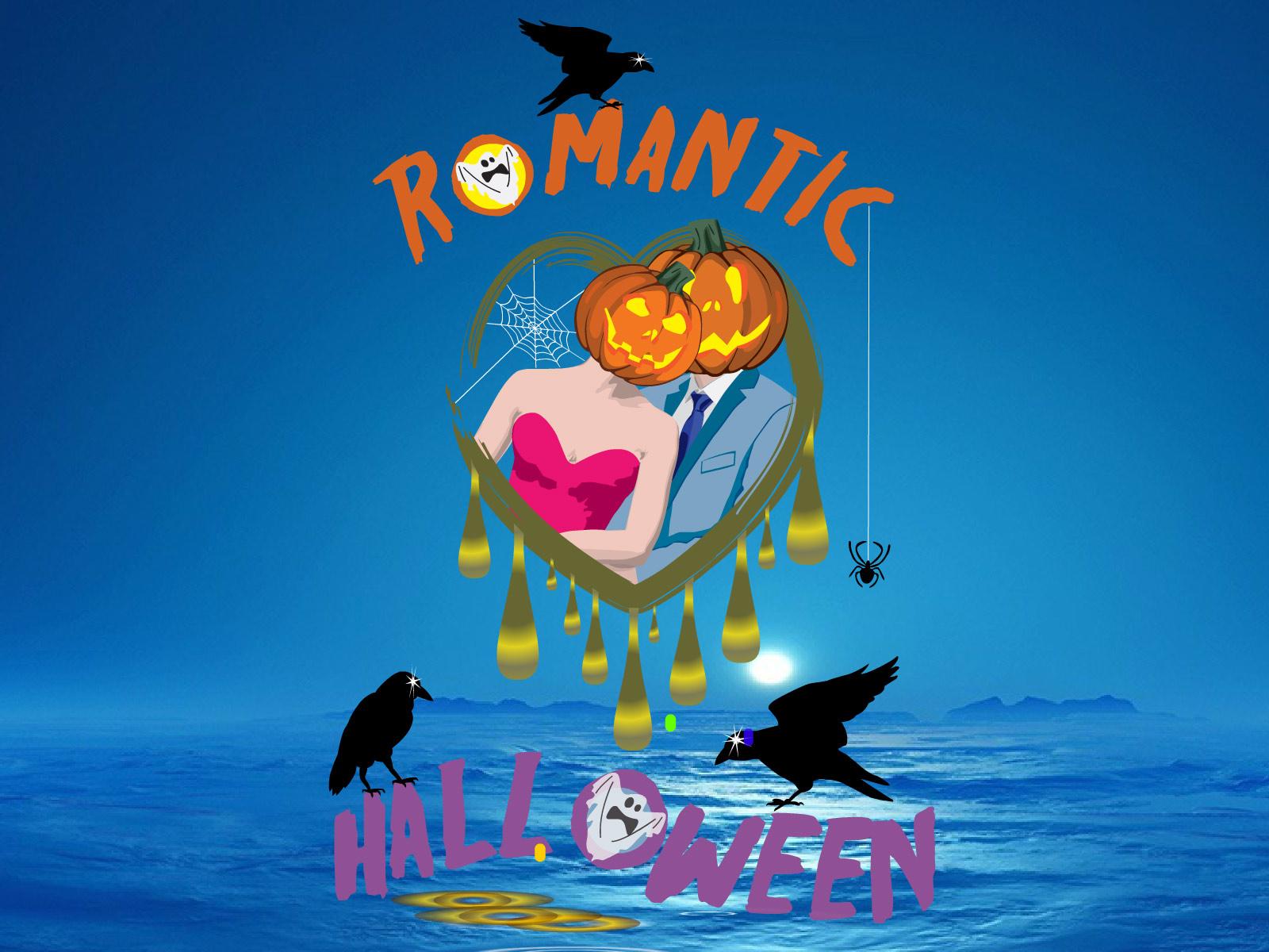 Romantic Halloween Live Wallpaper