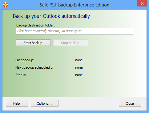 Safe PST Backup for Microsoft Outlook