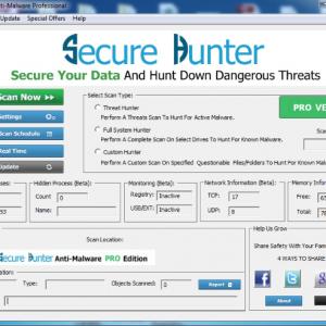 Secure Hunter Anti-Malware Pro
