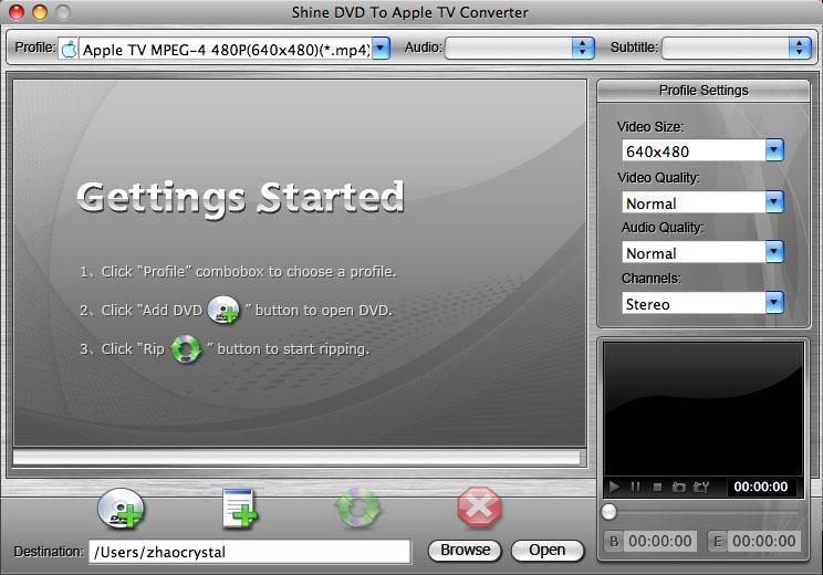 Shine DVD To Apple TV Converter for Mac