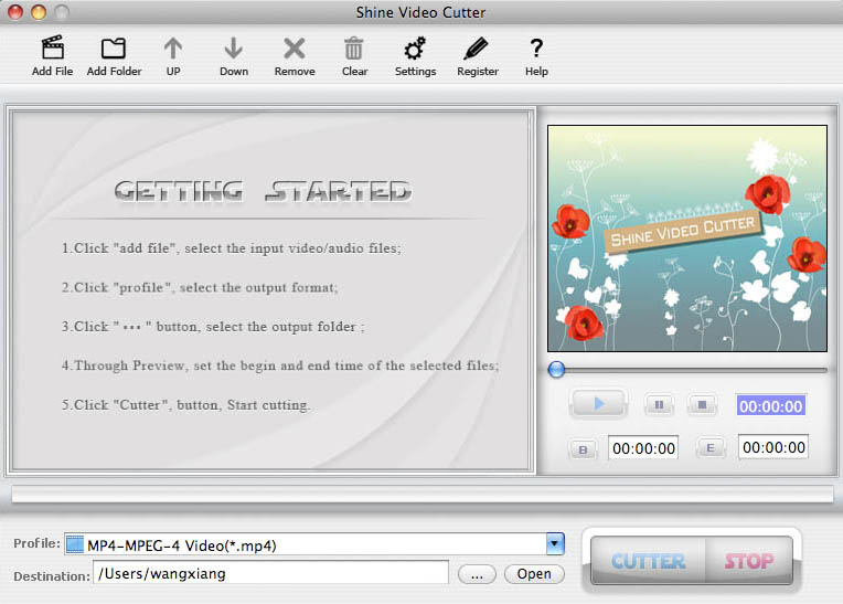 Shine Video Cutter for Mac