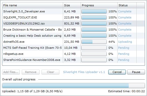 Silverlight Files Uploader