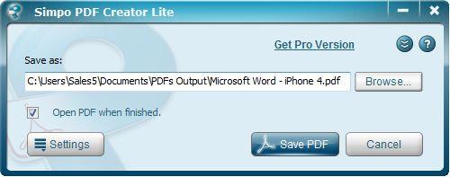 Simpo PDF Creator Lite