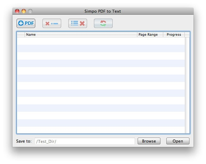 Simpo PDF to Text for Mac