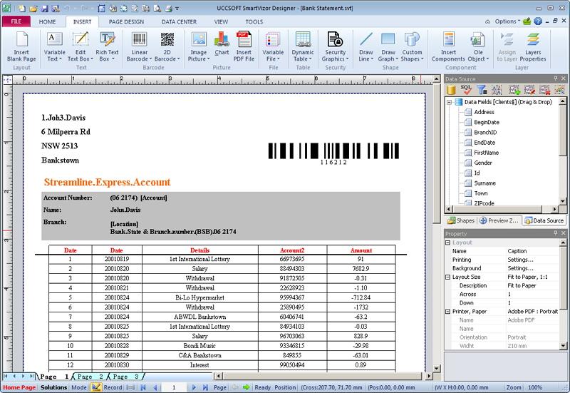 SmartVizor Bill Statement Batch Printing Software