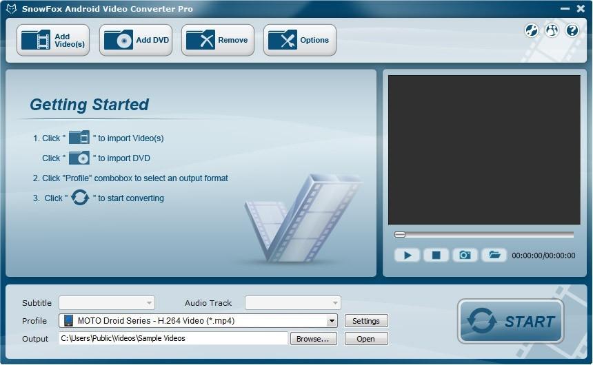 SnowFox Android Video Converter Pro