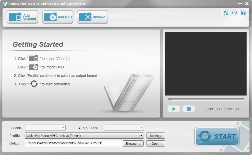 SnowFox DVD & Video to iPod Converter