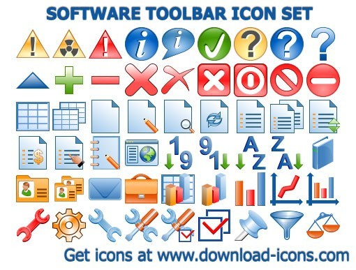 Software Toolbar Icon Set