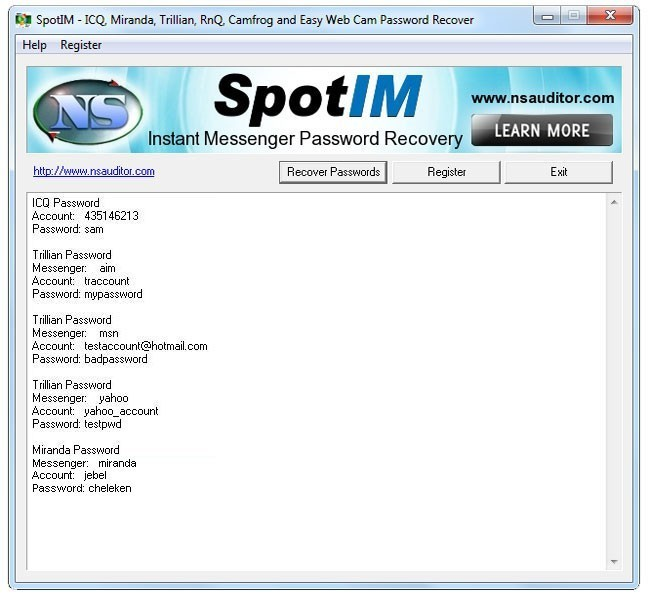 SpotIM Messenger Password Recovery