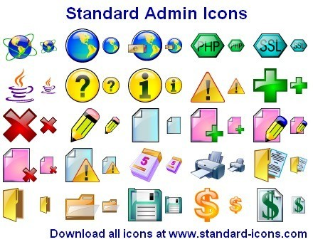 Standard Admin Icons