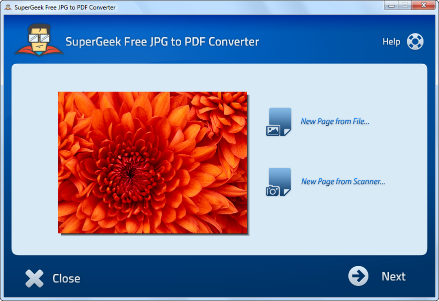 SuperGeek Free JPG to PDF Converter