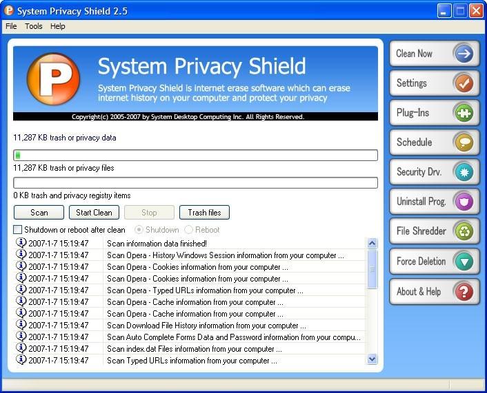 System Privacy Shield
