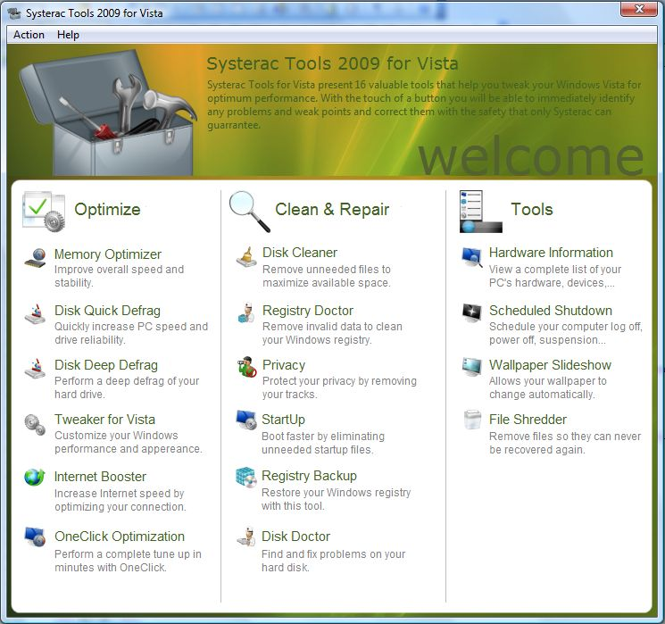 Systerac Tools for Vista 2009