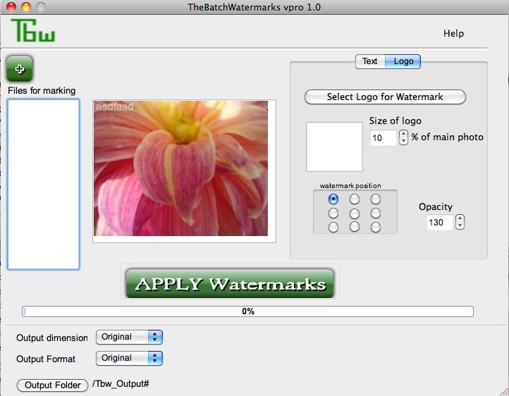 Tbw-pro - mac watermark software