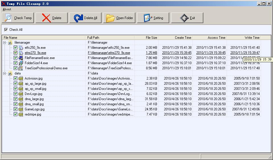 Temp File Cleanup