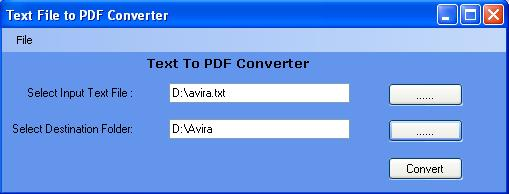 Text To PDF Creator