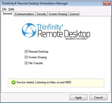 Thinfinity Remote Desktop Workstation