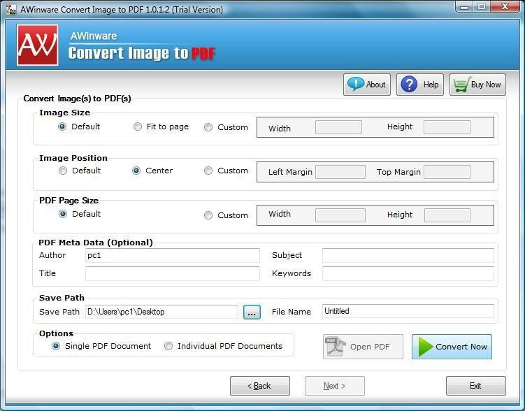 Tiff file to Pdf converter