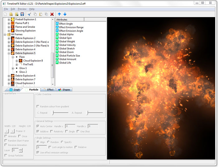 TimelineFX Particle Effects Editor