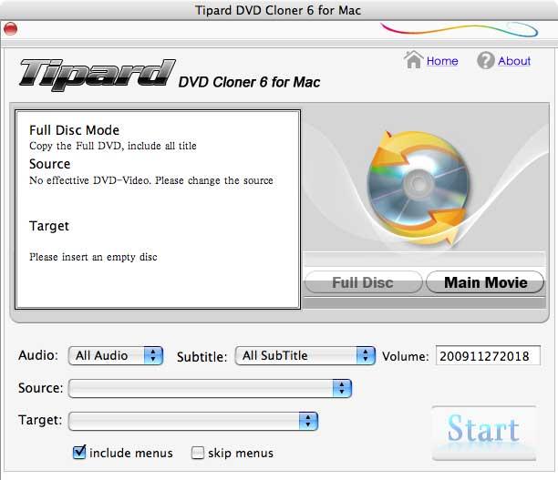 Tipard DVD Cloner for Mac