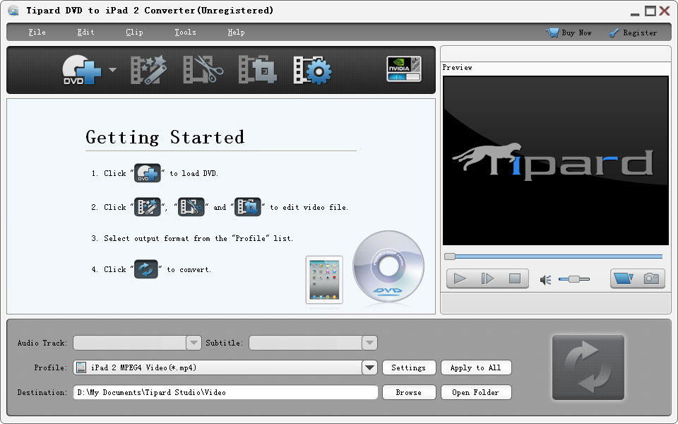 Tipard DVD to iPad 2 Converter