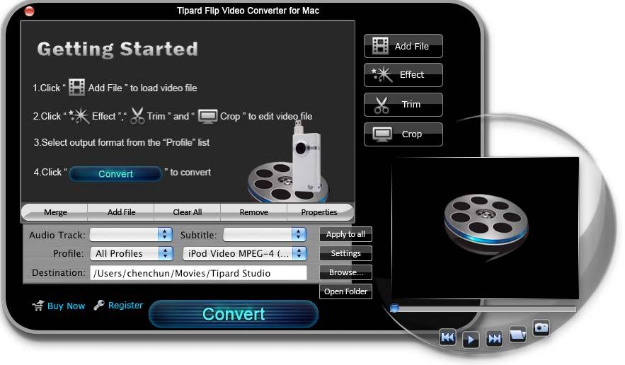 Tipard Flip Video Converter for Mac