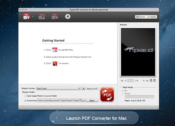 Tipard PDF Converter for Mac