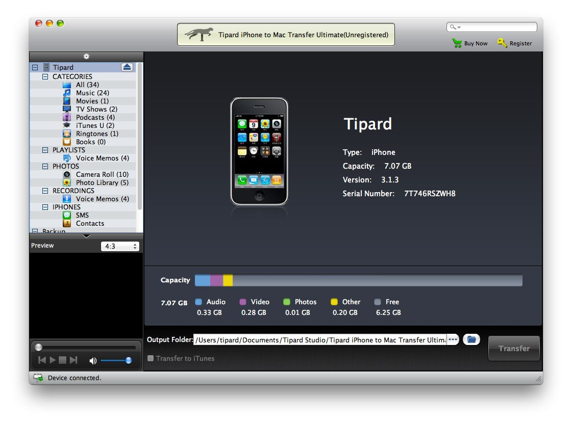 Tipard iPhone to Mac Transfer Ultimate