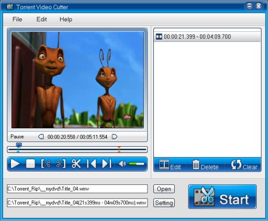 Torrent 3GP Video Cutter