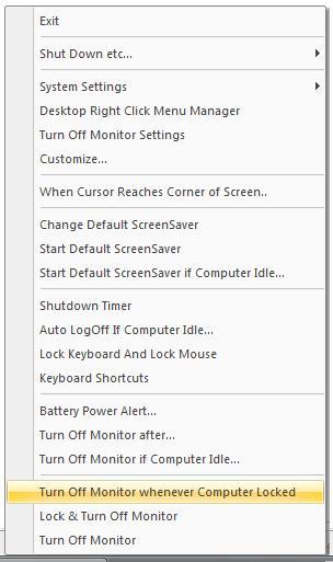 Turn Off Monitor