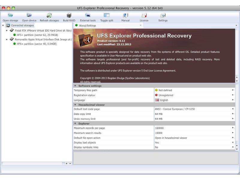UFS Explorer Professional Recovery (Mac)