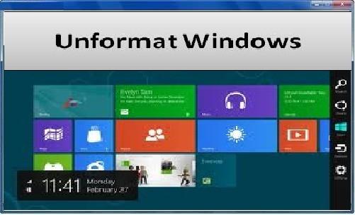 Unformat Windows